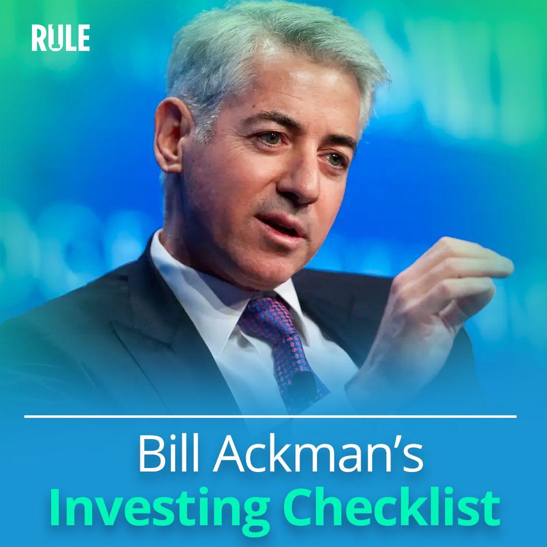 274- Bill Ackman's Investing Checklist